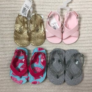 Set of 4 Pairs of 6-12 Month Sandals